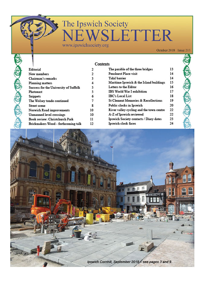 Newsletter, October 2018 (Issue 213) » The Ipswich Society